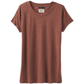 Prana Cozy Up T-Shirt Donna, chai heather